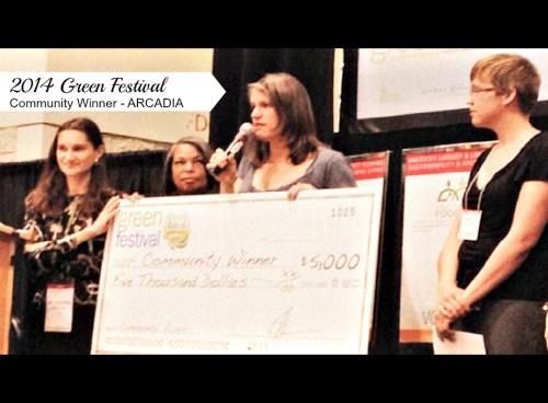 Green Festival Community Award Winner Arcadia