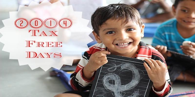 2014 Tax Free Days
