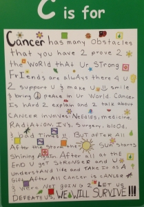C is for cancer #stJude #cancer #kids