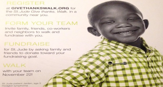 Participate in the Give Thanks Walk. Over 65 cities are participating across America. #St.Jude