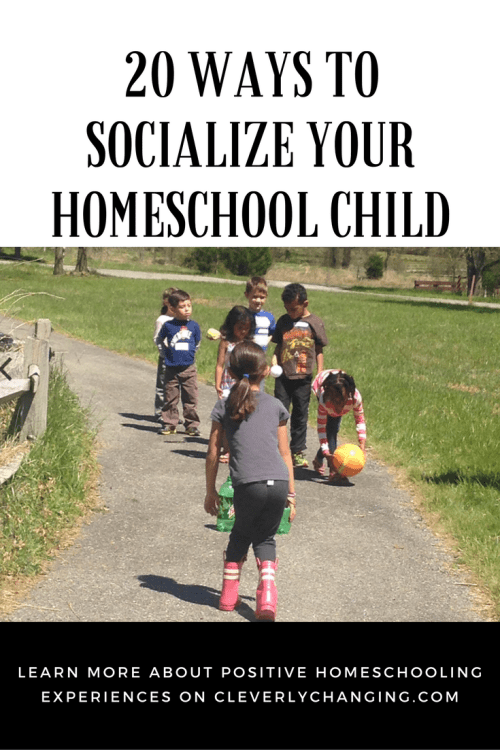 20 Ways to Socialize your Homeschool Child #homeschooling #socialemotionallearning #education