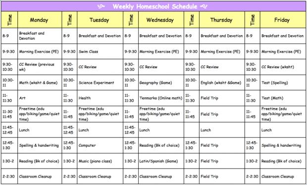Classical Conversations Homeschool Daily Schedule #cc #homeschool #homeschoolprep #homeschooleducator