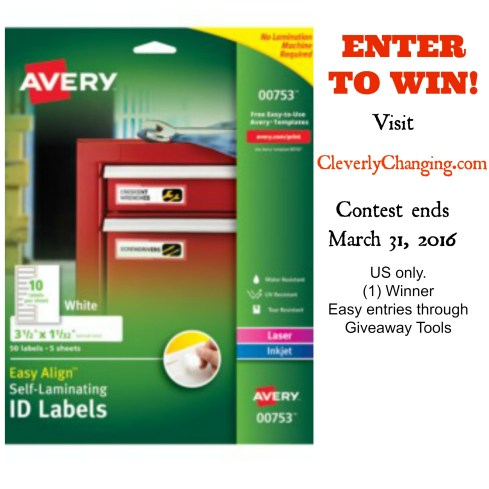 Avery Self Laminating Labels #Giveaway and #Review