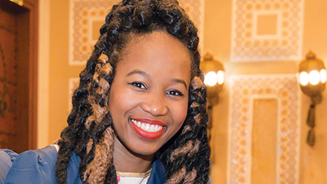 Christine Souffrant uses social media to connect people to street merchants around the world.
