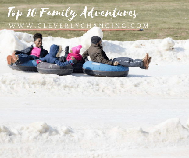 Family Snow tubing: Top 10 Family Homeschool Adventures