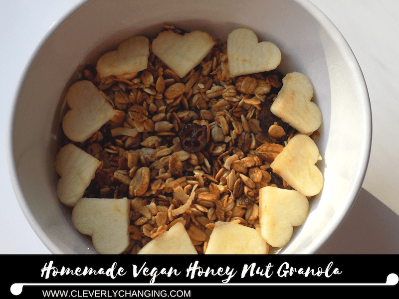 Homemade Vegan Honey Nut Granola Ingredients