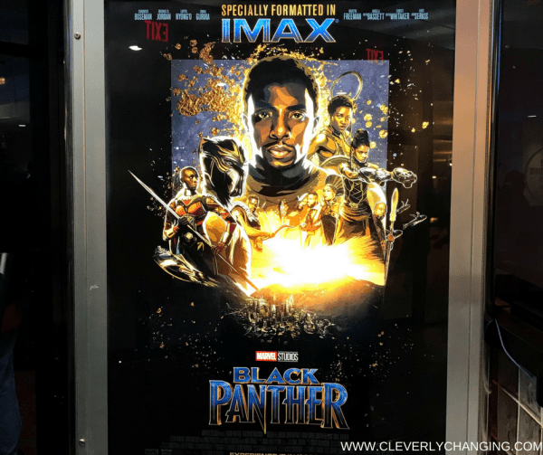 Black Panther movie poster - personalized wood watch review enclosed