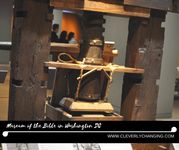 Replica of Gutenberg's Printing Press Museum of the Bible Field Trip