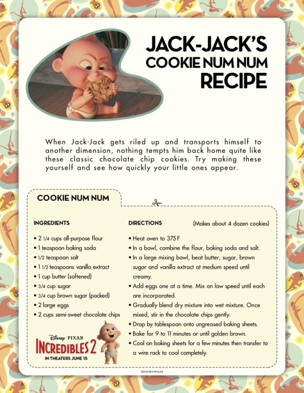 Incredibles2 Cookie Recipe