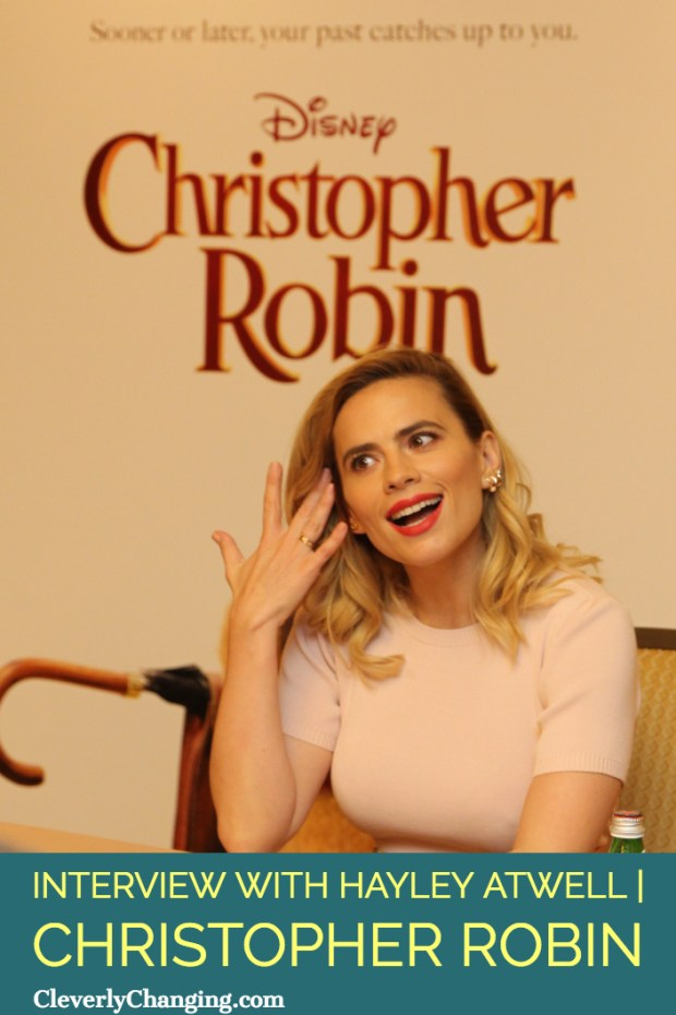Hayley Atwell is Evelyn Robin in Christopher Robin