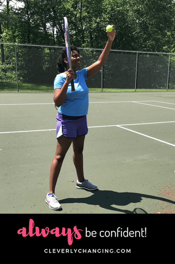 African American Blogger playing Tennis-AD Always Be Confident