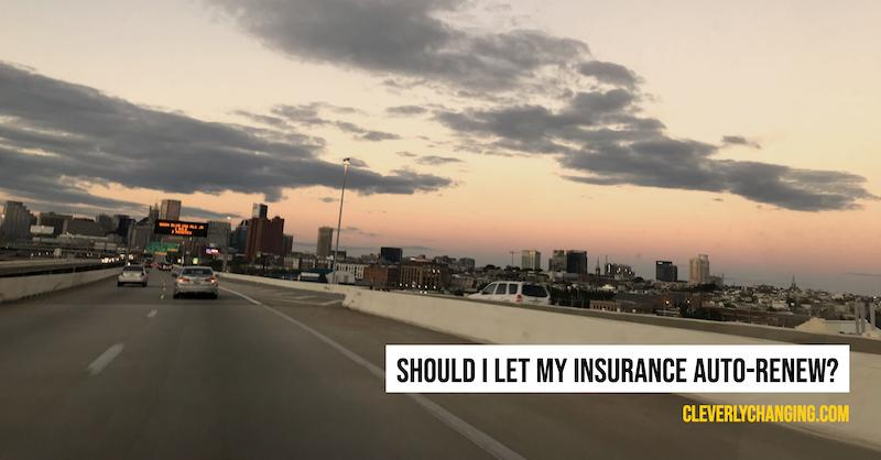 Should I let my insurance auto-renew?