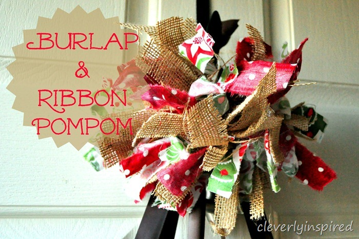 burlap and fabric pompom @cleverlyinspired (1)