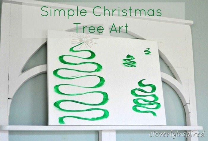easy diy christmas tree canvas art @cleverlyinspired (5)