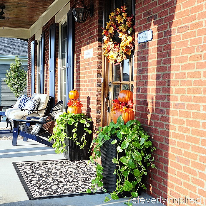 Easy Fall Planter Outdoor Fall Dcor Cleverly Inspired