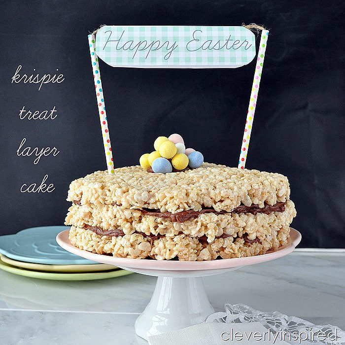 krispie treat layer cake @cleverlyinspired (4)