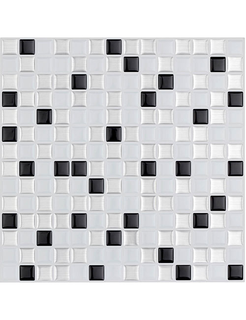 stick on smart black and white peel stick tiles cm80208 6pcs pack