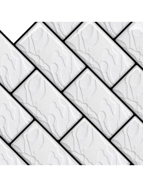 faux marble subway backsplash tile sheet cm80148 6pcs pack