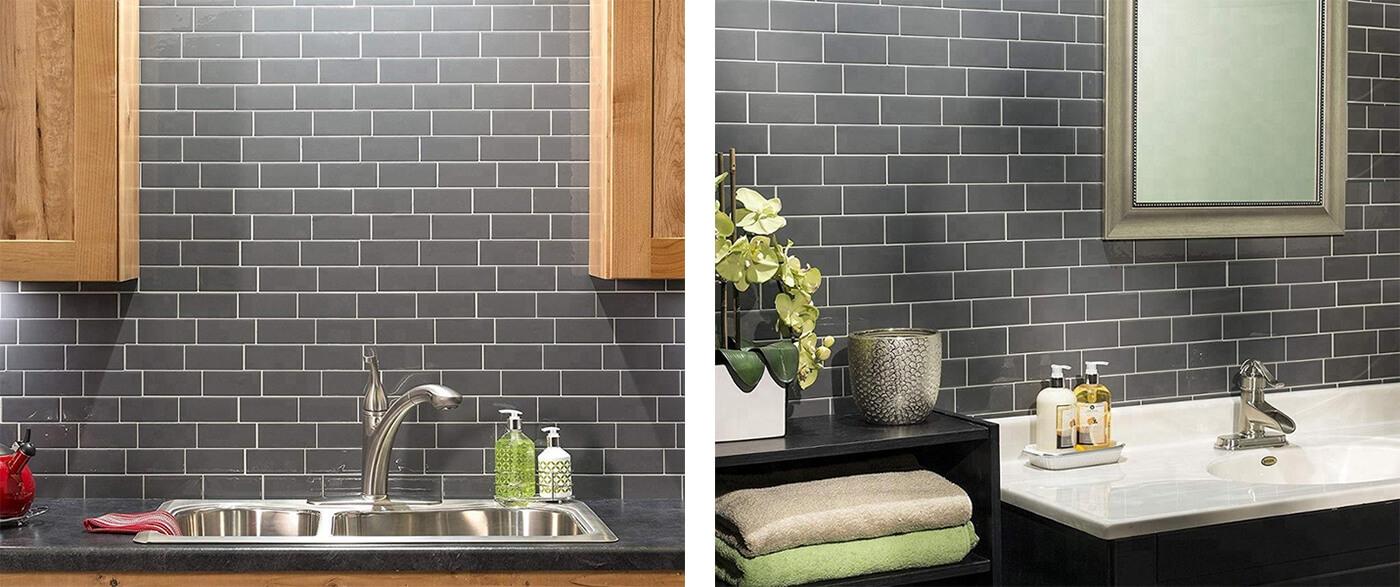 title | Gray Subway Tile Backsplash
