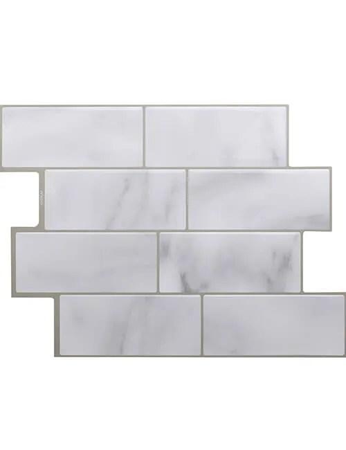 grey subway tile backsplash cm80700 6pcs pack