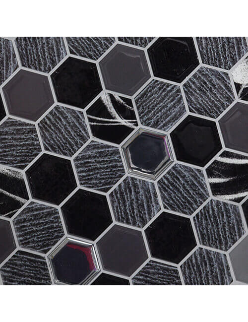 Clever Mosaics hexagon stone tile