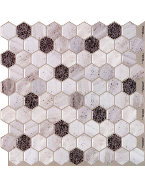 Clever Mosaics marble hexagon tile