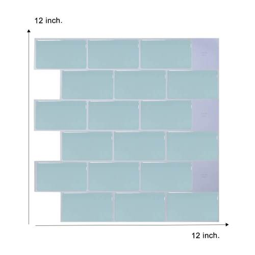 12 x 12 inch green subway tile