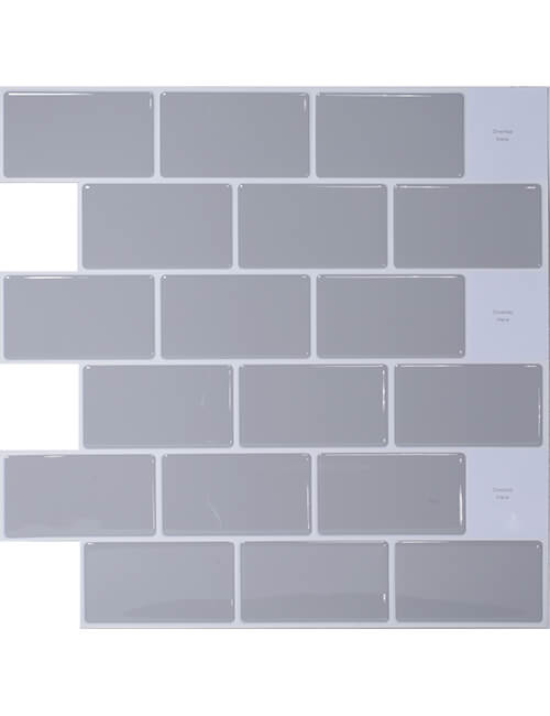 gray peel and stick tile