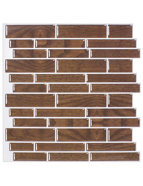 peel stick wood backsplash