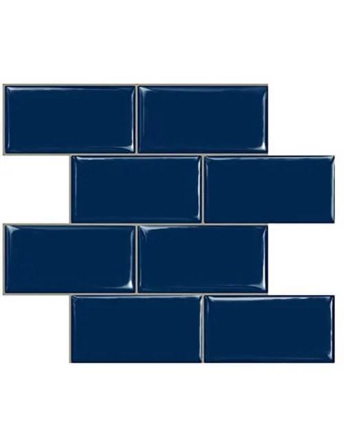 peel and stick navy blue subway tile cm81704 6pcs pack