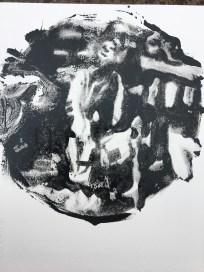 Sakura oil on paper 15cm