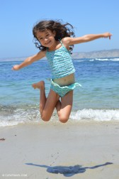 Caitlyn jumping for joy!