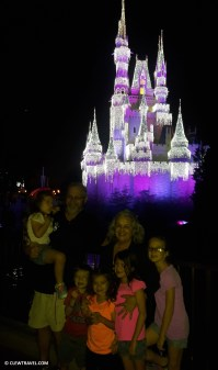 Grandparents in front of Cinderella's Castle