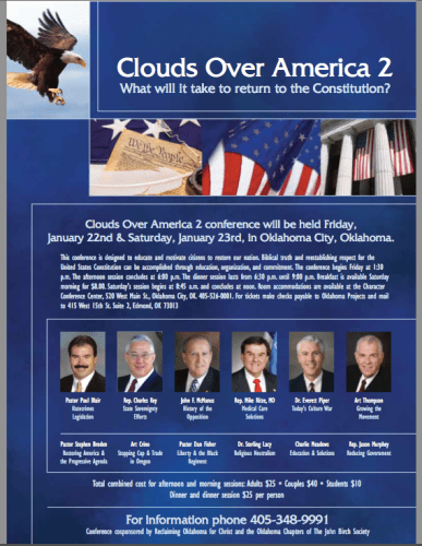 Clouds Over America Conference in OKC - January 22-23