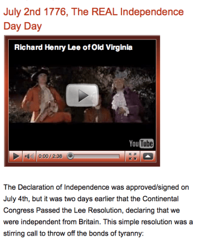 Is July 2nd the Real Independence Day?  Happy 4th Everyone!