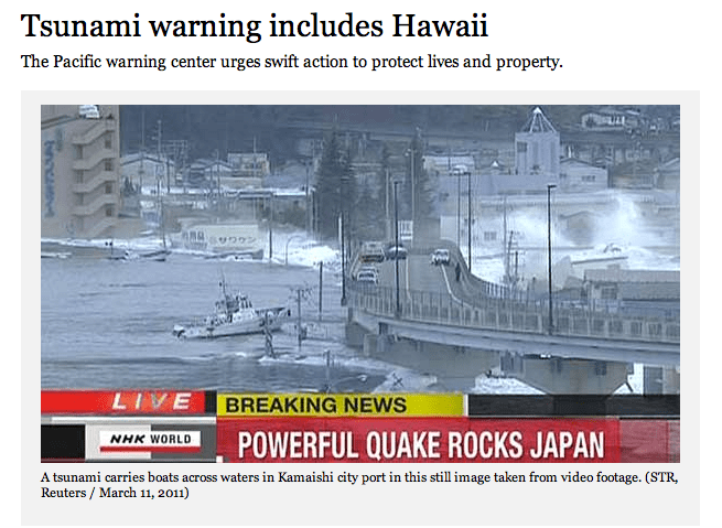 Our Prayers are with Japan - 8.9 Earthquake and Tsunami