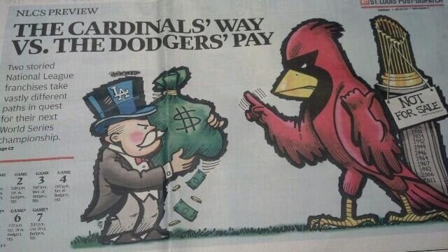 Really, St. Louis? Dodgers vs. Cards is now about class warfare?