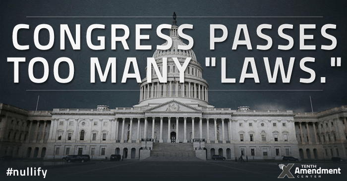 Congress passes too many laws.