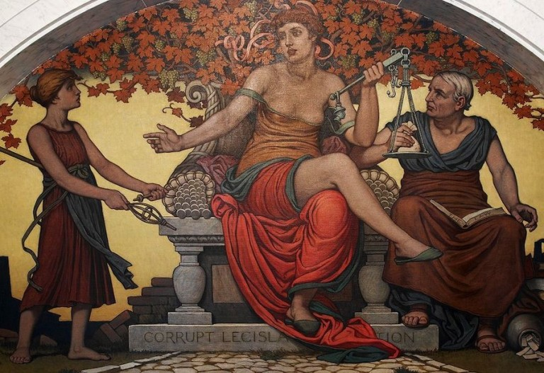 Painting: Corrupt Legislation by Elihu Vedder