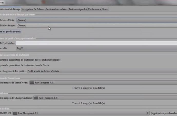Présentation du logiciel RawTherapee les preferences clicandzoomphoto