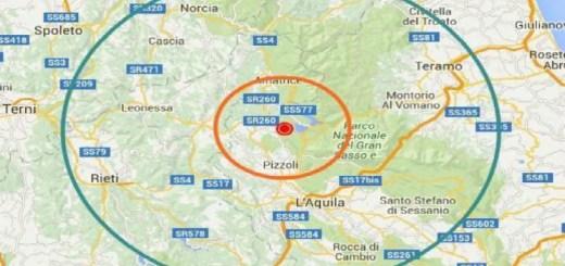 Cartina terremoto agosto 2016