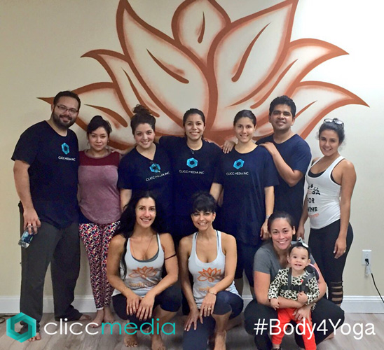 body4yoga and clicc media corporate team building evevnt