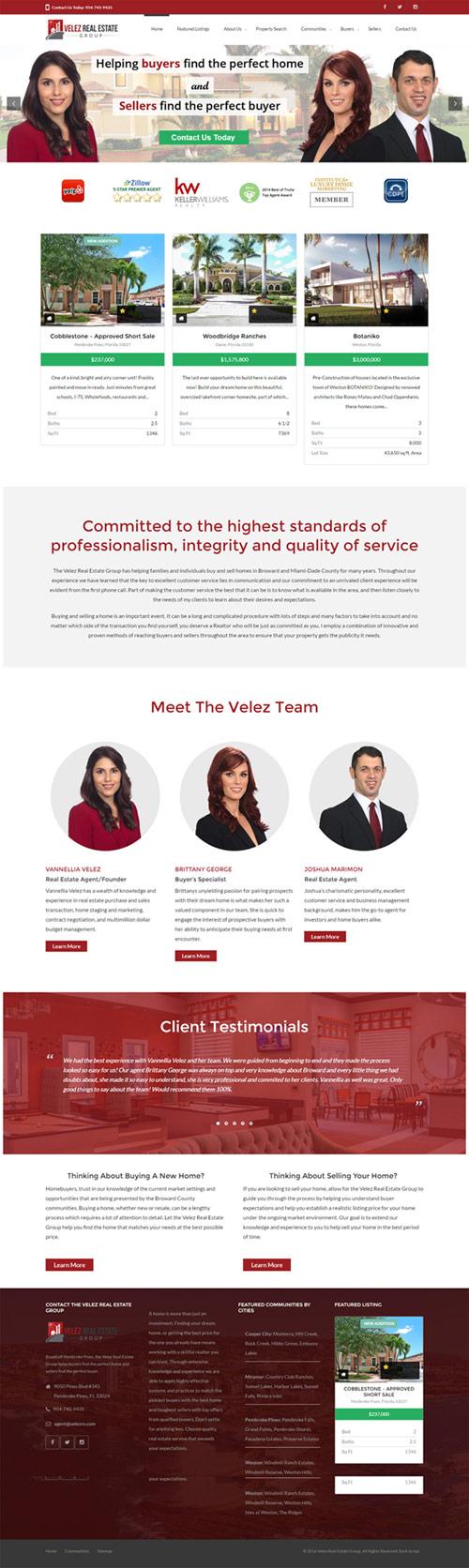 New velez Real Estate website