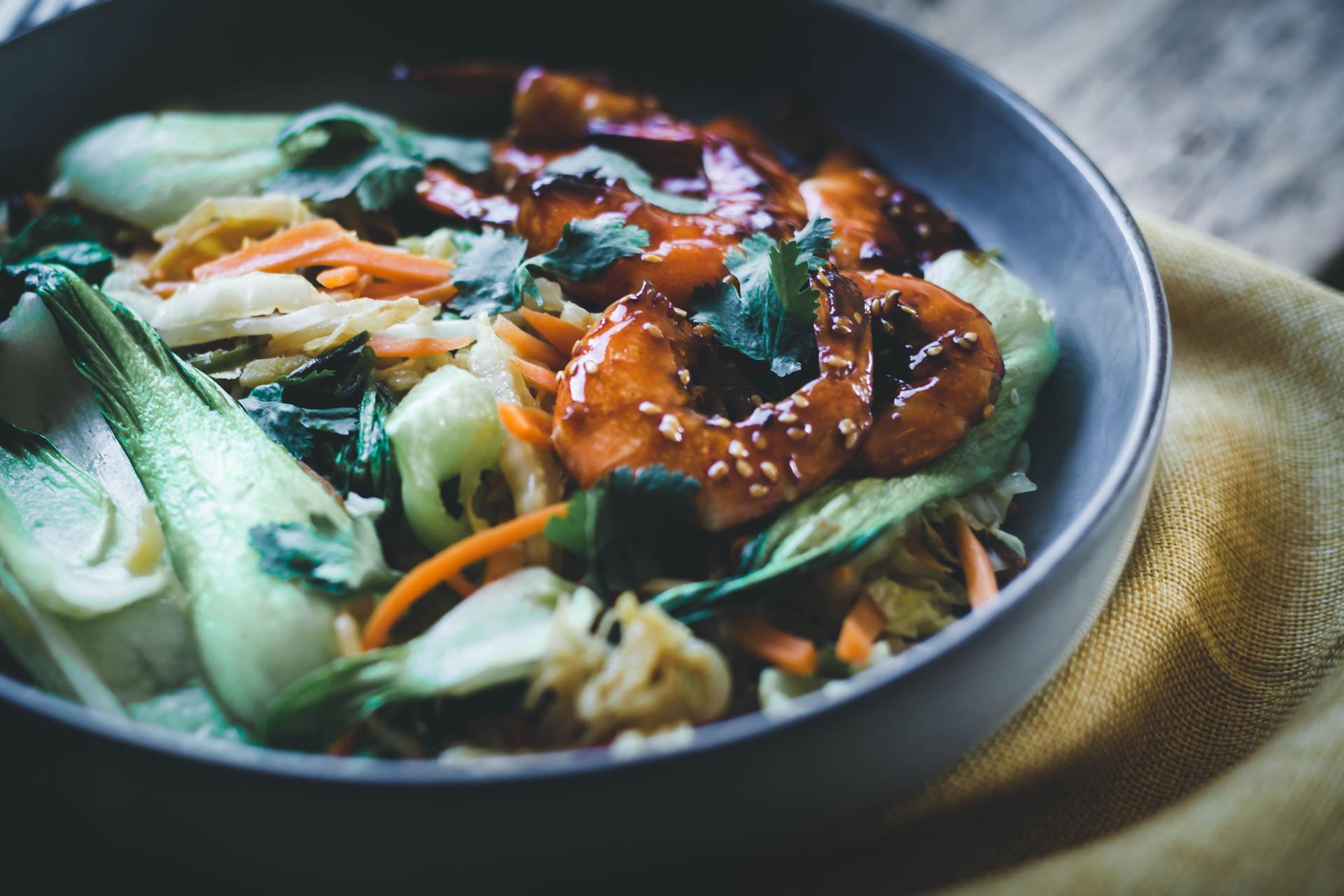 recette asiatique chou chinois-poêle de légumes