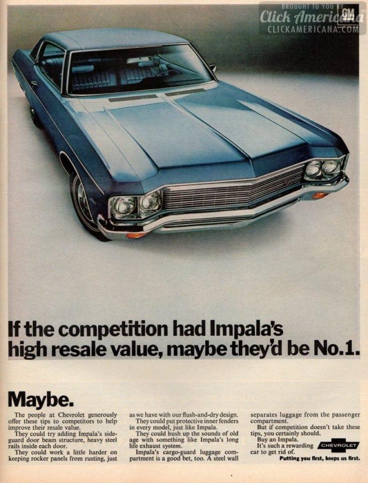 Impala's high resale value (1970)