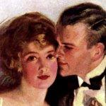 1920s couple - engagement stories