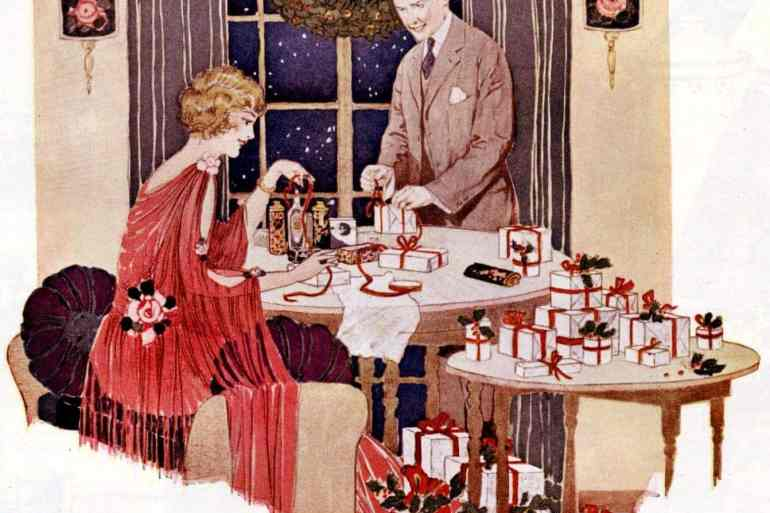 Easy tips for decorating Christmas gifts (1921)