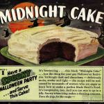 Black Midnight Cake recipe for a spooky Halloween party (1941)