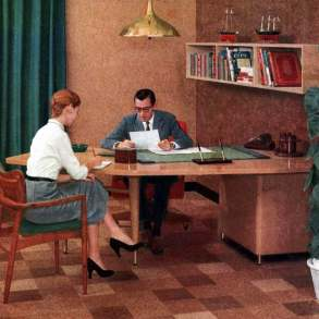 1950s secretary and boss