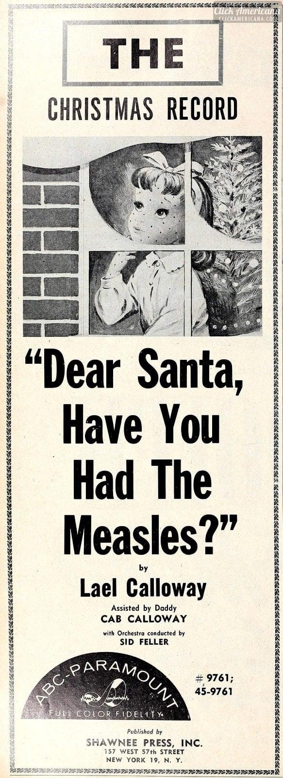 1956 Cashbox - Dear Santa Measles song